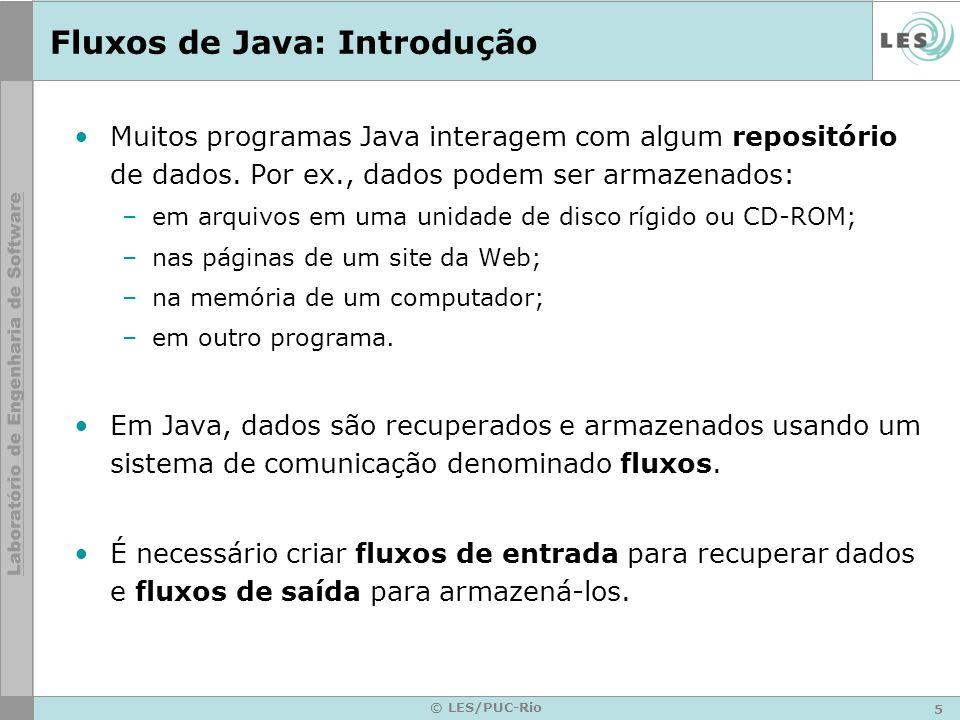 Fluxos de Java: Introdução