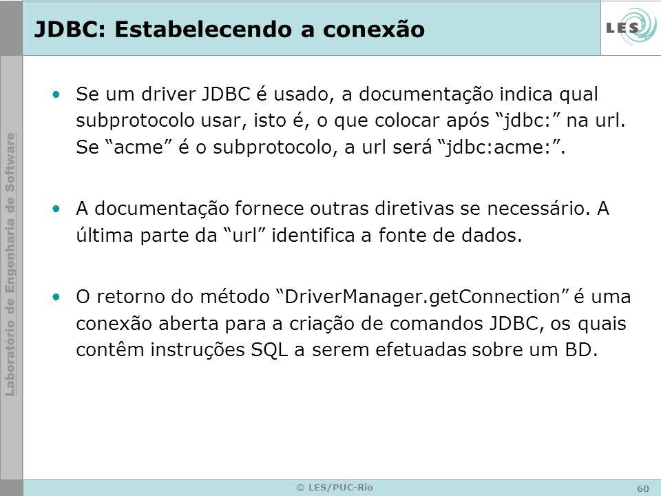 JDBC: Estabelecendo a conexão