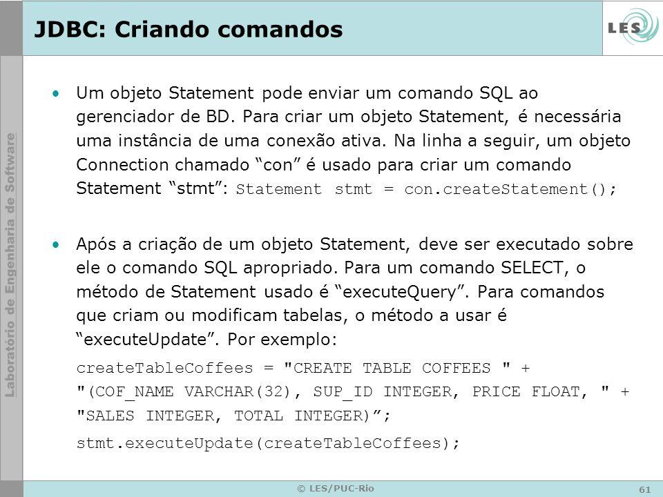 JDBC: Criando comandos