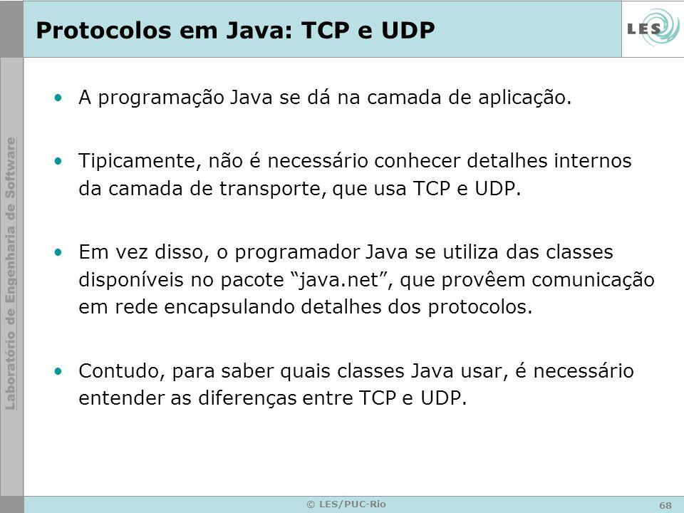 Protocolos em Java: TCP e UDP