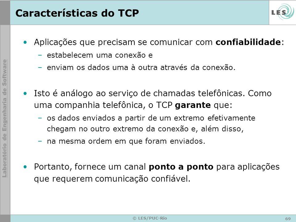 Características do TCP