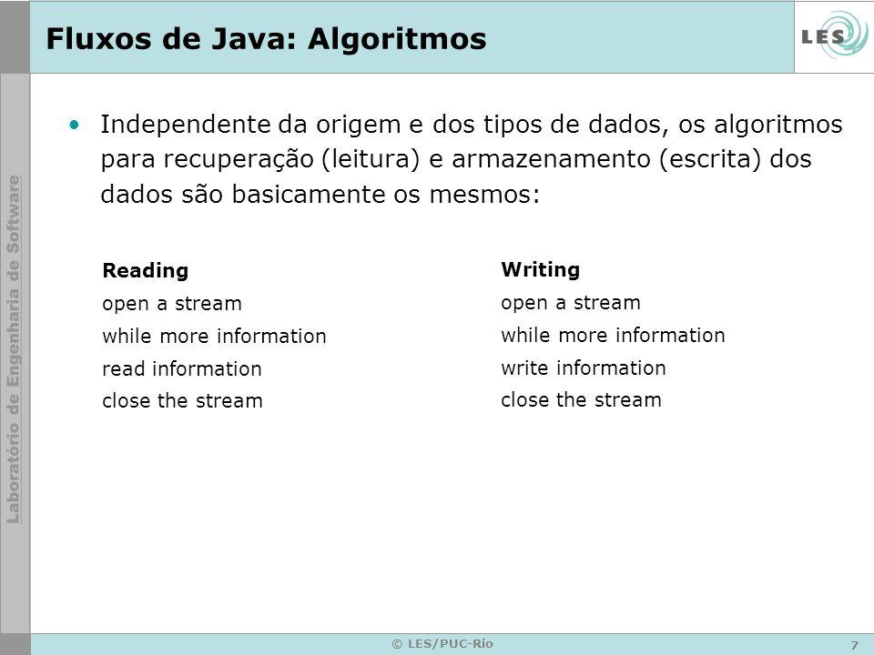 Fluxos de Java: Algoritmos