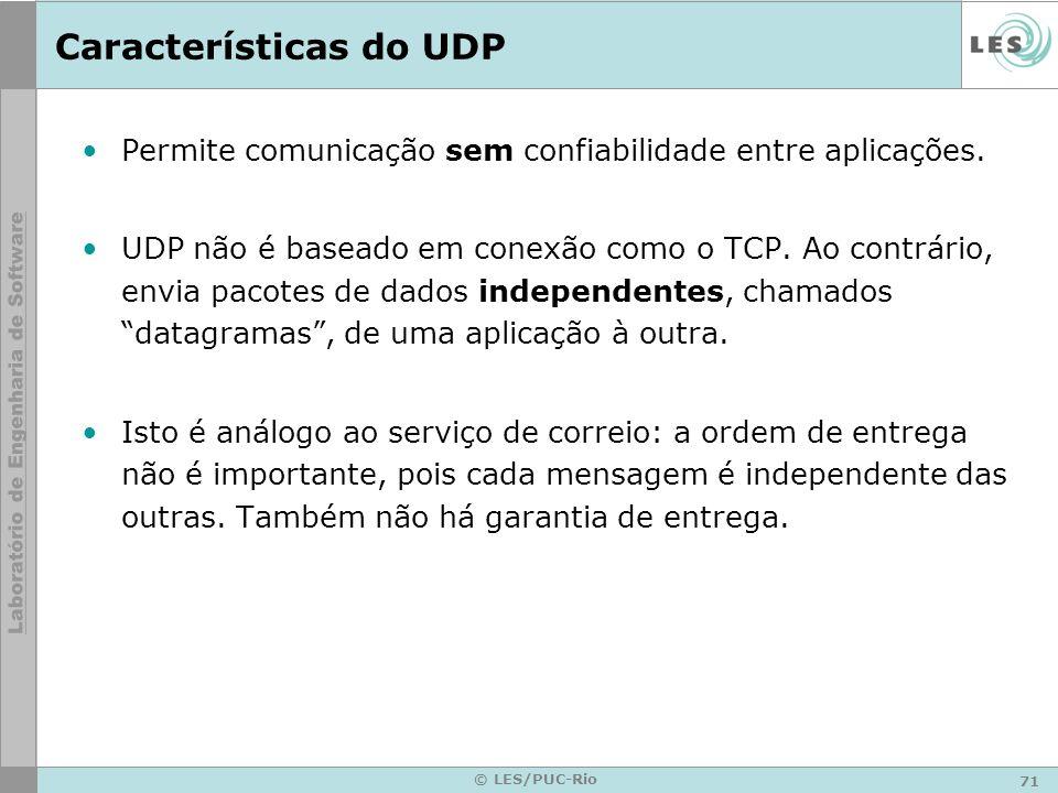 Características do UDP