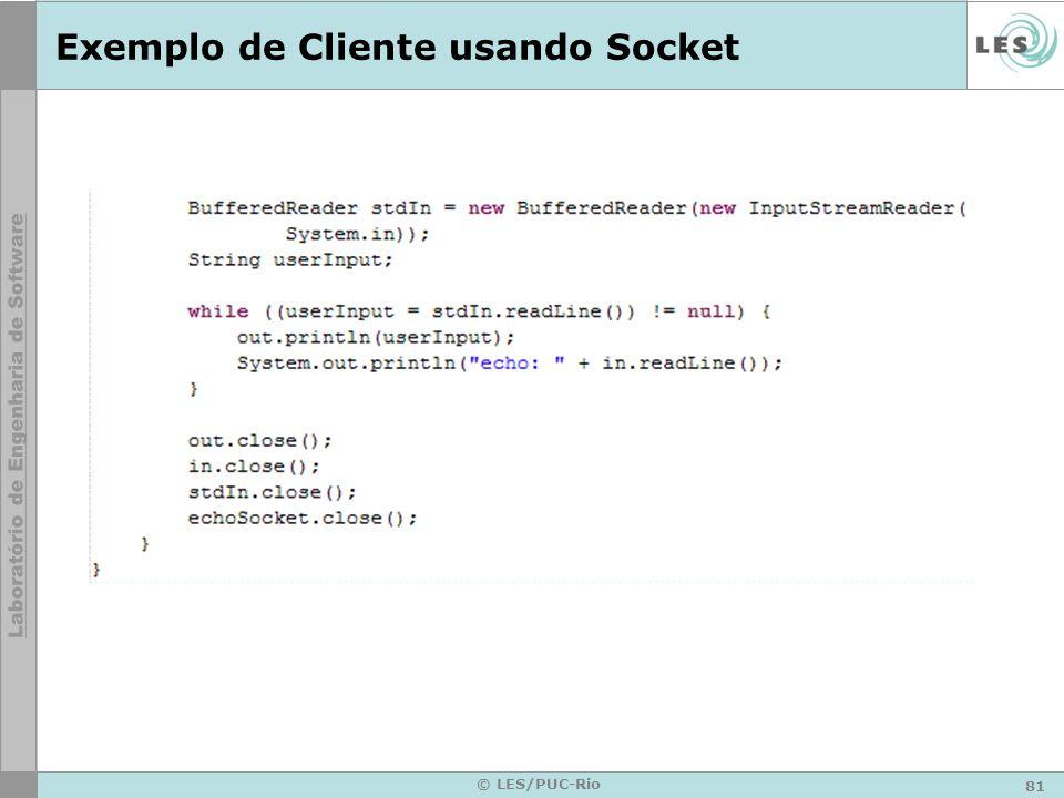 Exemplo de Cliente usando Socket