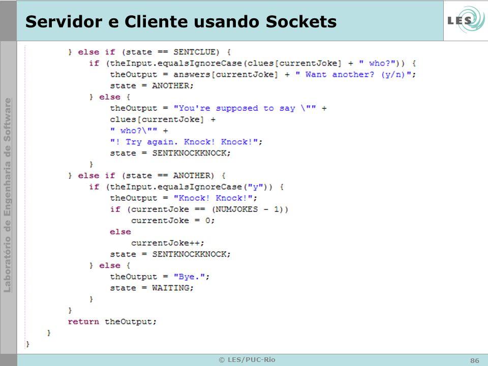 Servidor e Cliente usando Sockets