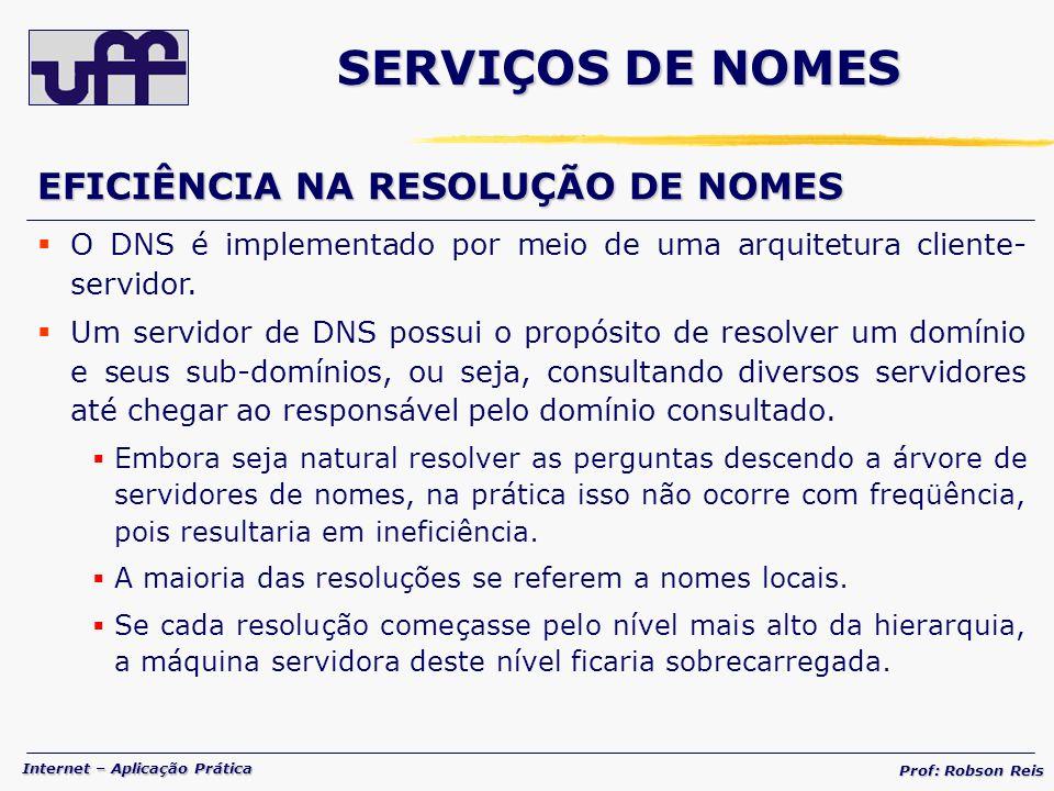 SERVIÇOS DE NOMES EFICIÊNCIA NA RESOLUÇÃO DE NOMES