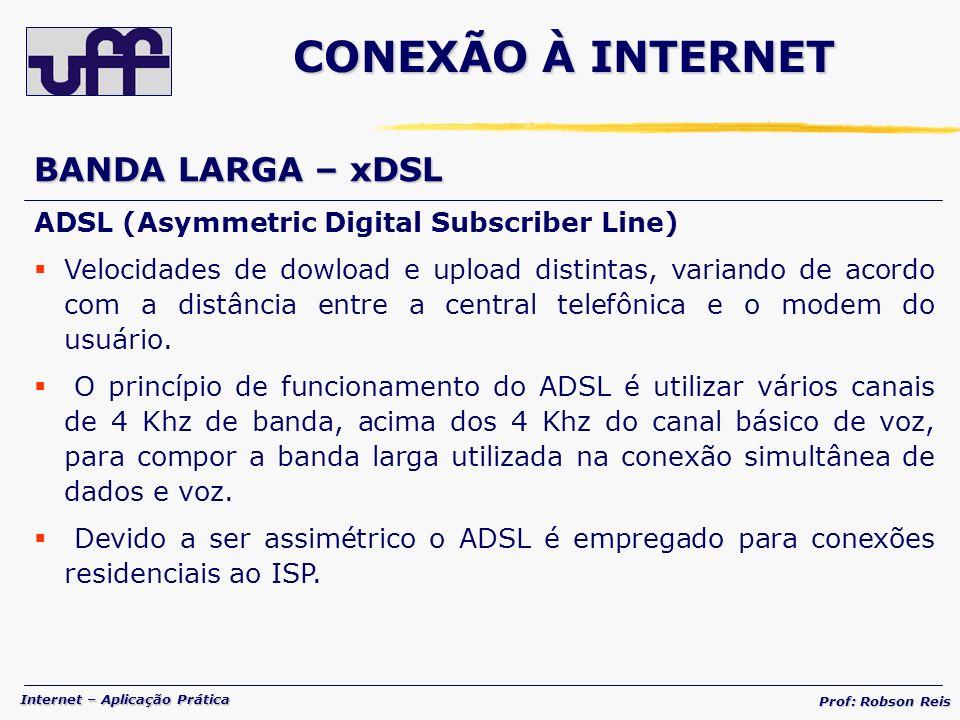 CONEXÃO À INTERNET BANDA LARGA – xDSL