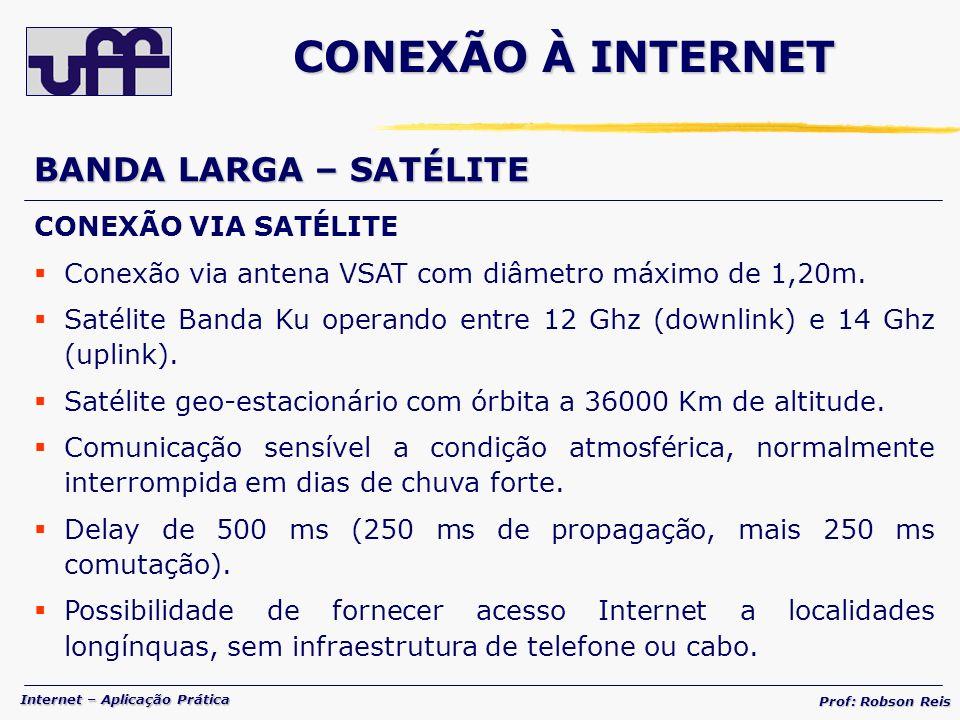 CONEXÃO À INTERNET BANDA LARGA – SATÉLITE CONEXÃO VIA SATÉLITE