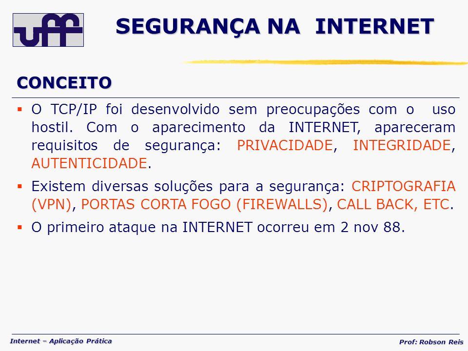 SEGURANÇA NA INTERNET CONCEITO