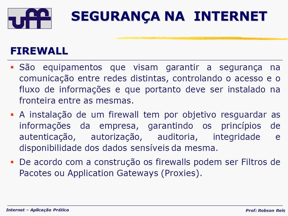 SEGURANÇA NA INTERNET FIREWALL