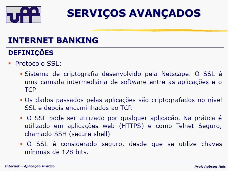 SERVIÇOS AVANÇADOS INTERNET BANKING DEFINIÇÕES Protocolo SSL: