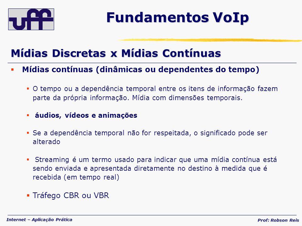 Fundamentos VoIp Mídias Discretas x Mídias Contínuas