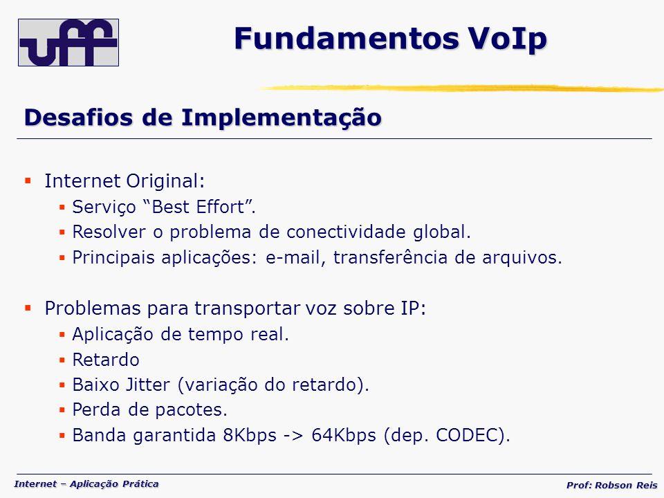 Fundamentos VoIp Desafios de Implementação Internet Original:
