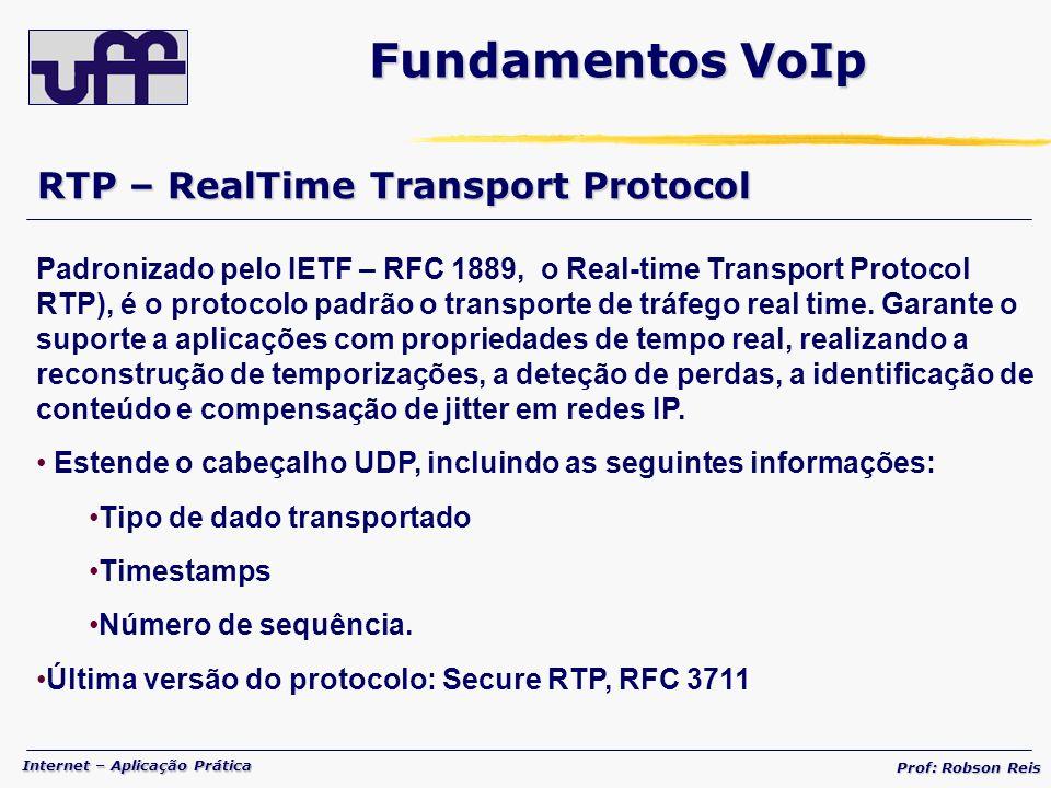 Fundamentos VoIp RTP – RealTime Transport Protocol