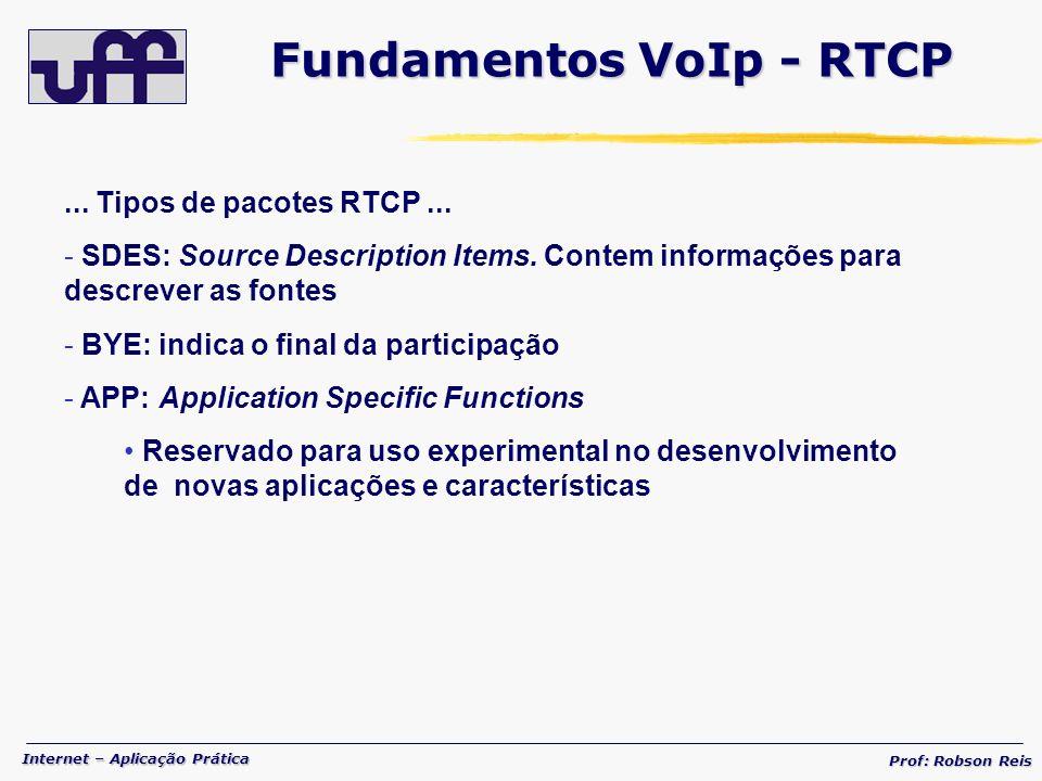 Fundamentos VoIp - RTCP