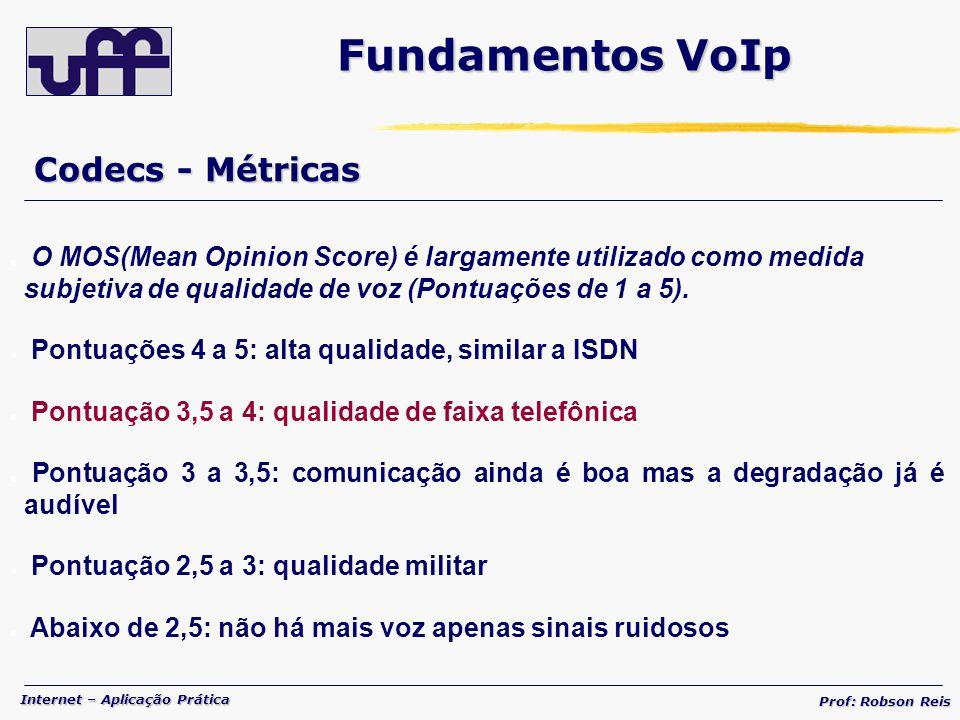Fundamentos VoIp Codecs - Métricas
