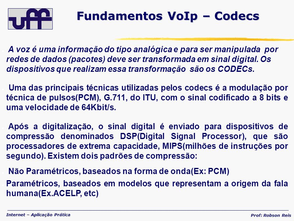 Fundamentos VoIp – Codecs