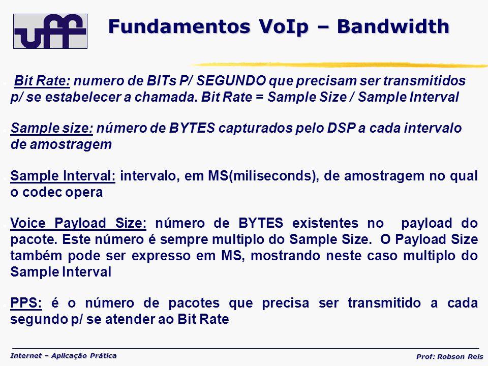 Fundamentos VoIp – Bandwidth