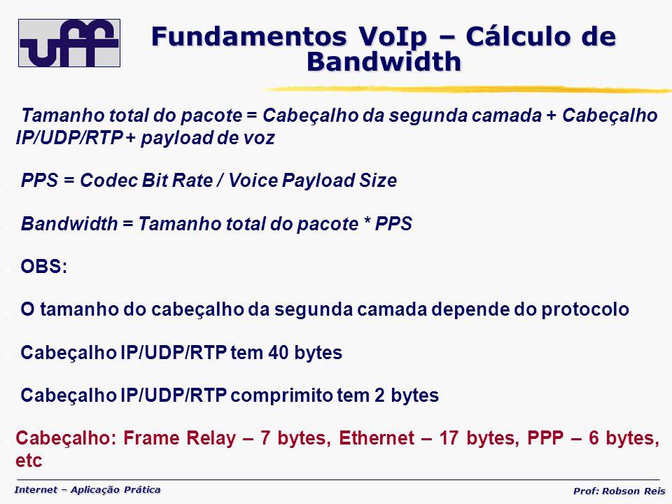Fundamentos VoIp – Cálculo de Bandwidth