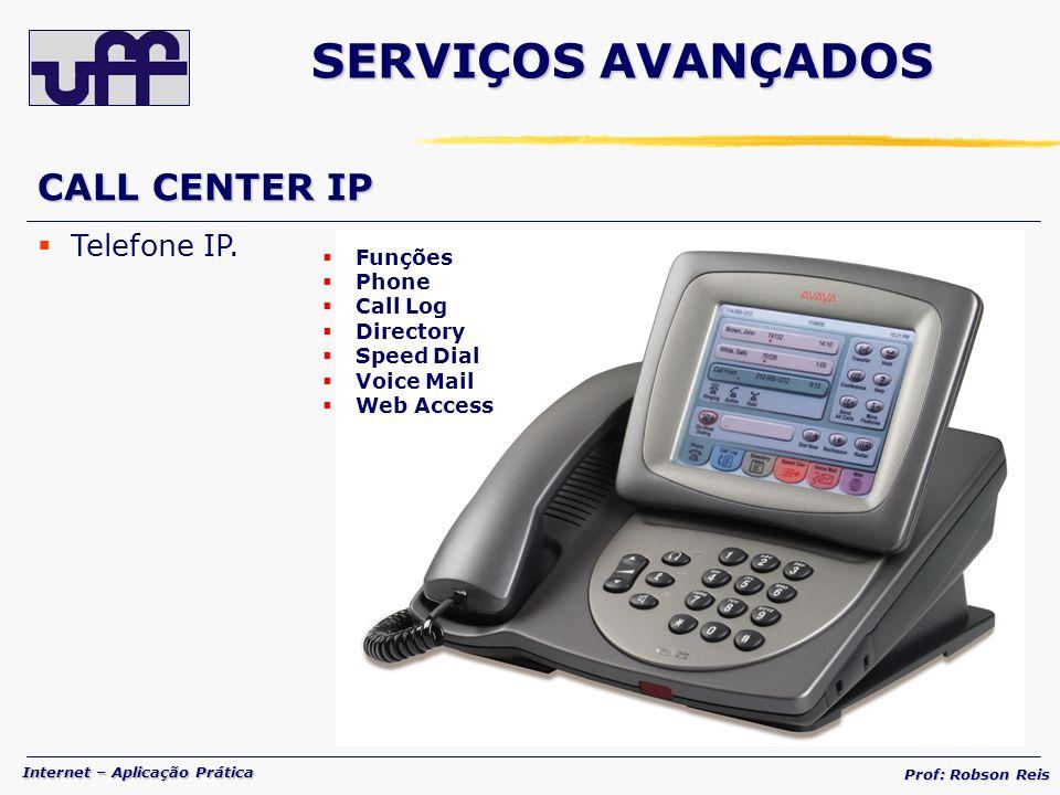 SERVIÇOS AVANÇADOS CALL CENTER IP Telefone IP. Funções Phone Call Log