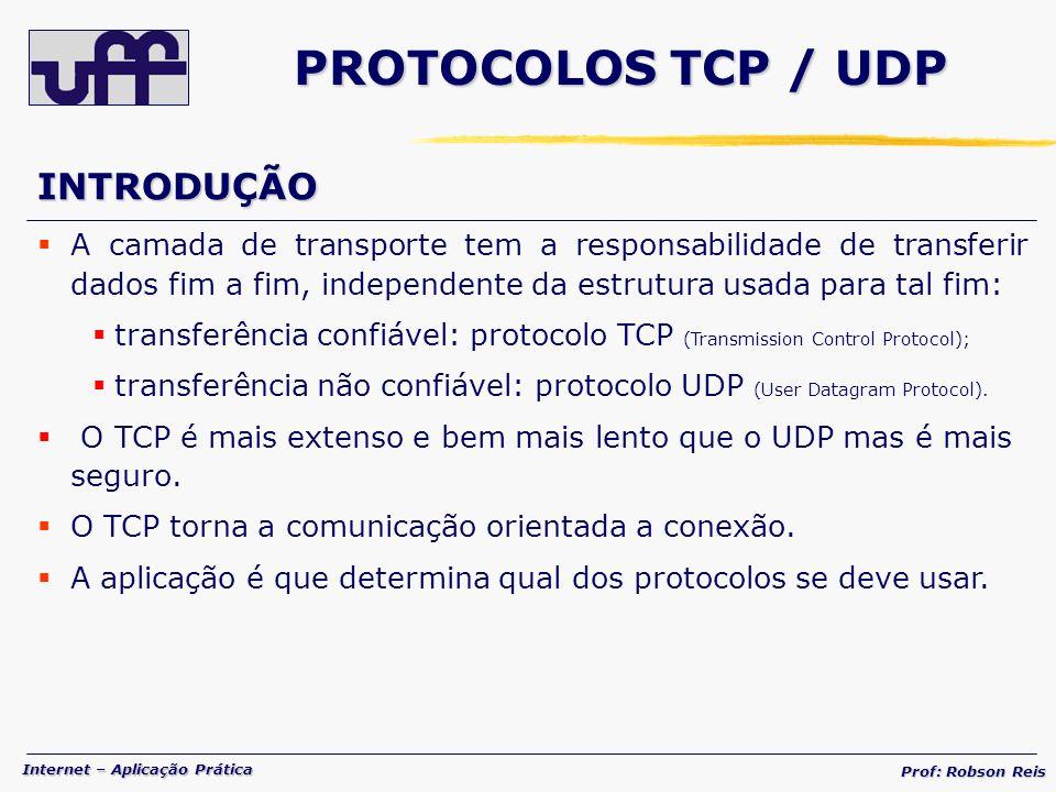 PROTOCOLOS TCP / UDP INTRODUÇÃO
