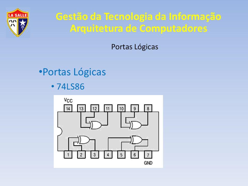 Portas Lógicas Portas Lógicas 74LS86