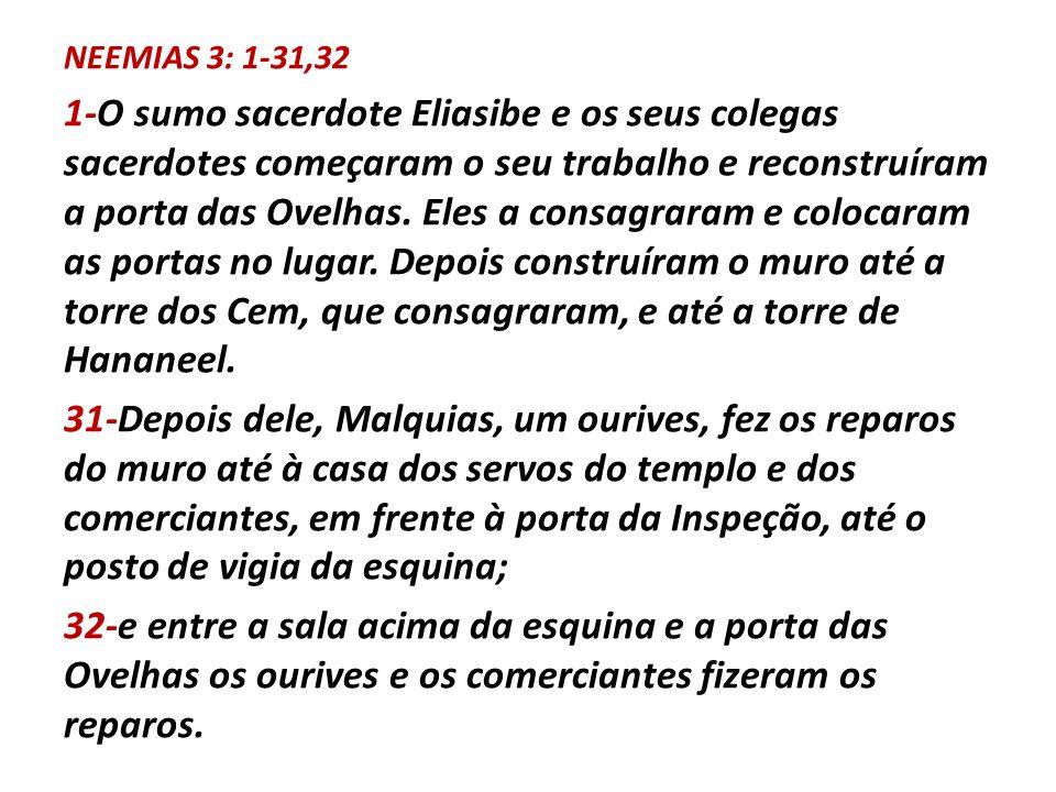 NEEMIAS 3: 1-31,32