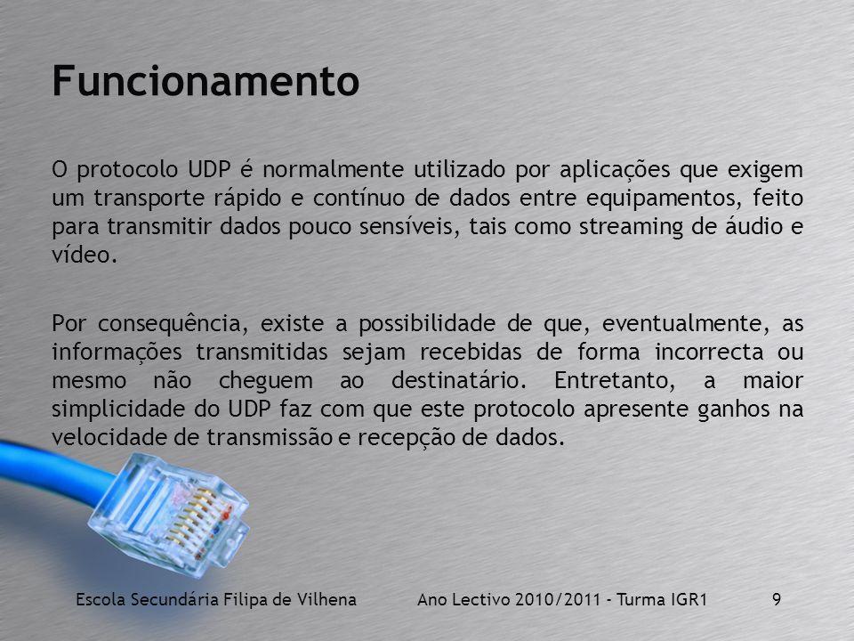 Escola Secundária Filipa de Vilhena Ano Lectivo 2010/2011 - Turma IGR1
