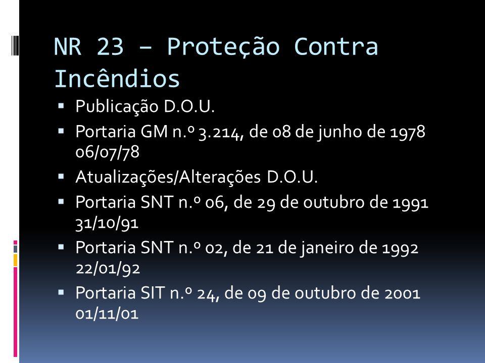 NR 23 – Proteção Contra Incêndios