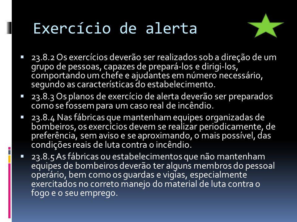Exercício de alerta