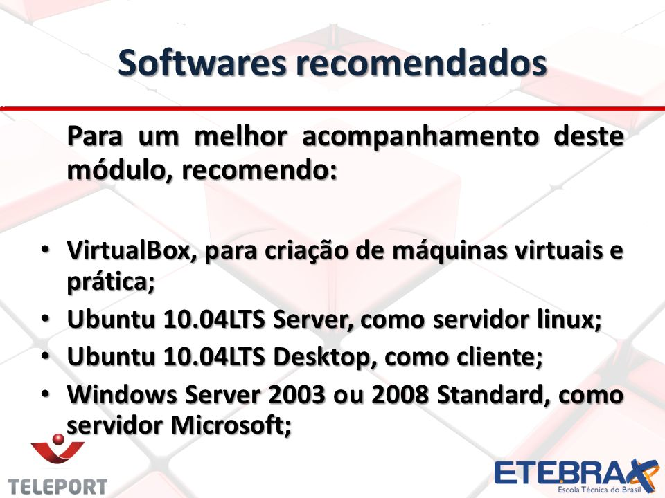 Softwares recomendados