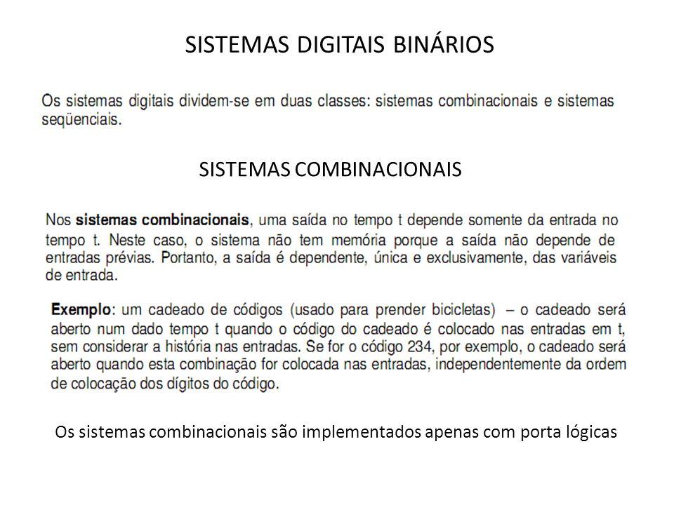 SISTEMAS DIGITAIS BINÁRIOS