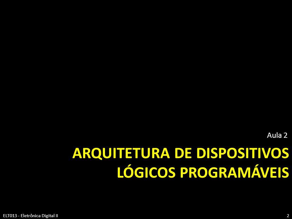 Arquitetura de dispositivos lógicos programáveis