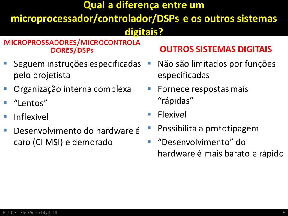 MICROPROSSADORES/MICROCONTROLADORES/DSPs OUTROS SISTEMAS DIGITAIS