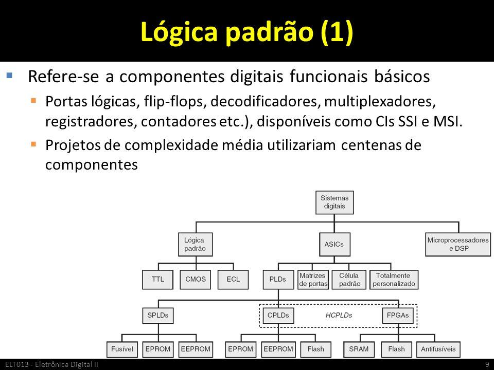 Lógica padrão (1) Refere-se a componentes digitais funcionais básicos
