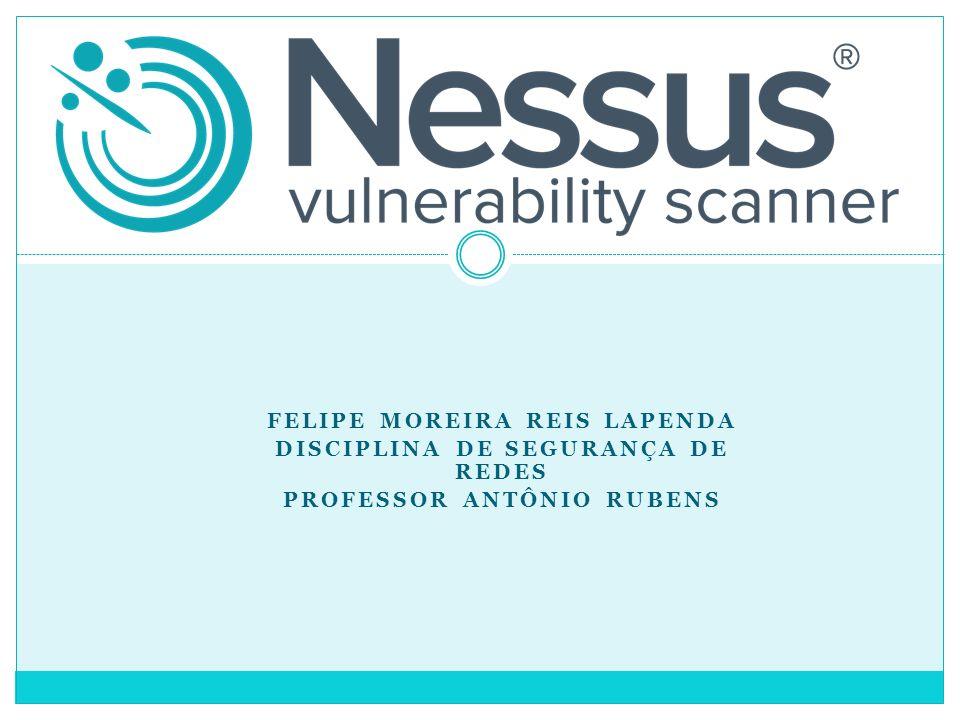 Felipe Moreira Reis Lapenda Disciplina de Segurança de Redes