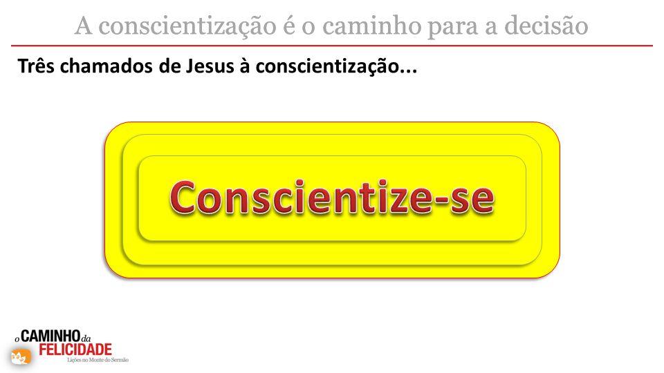 Três chamados de Jesus à conscientização...