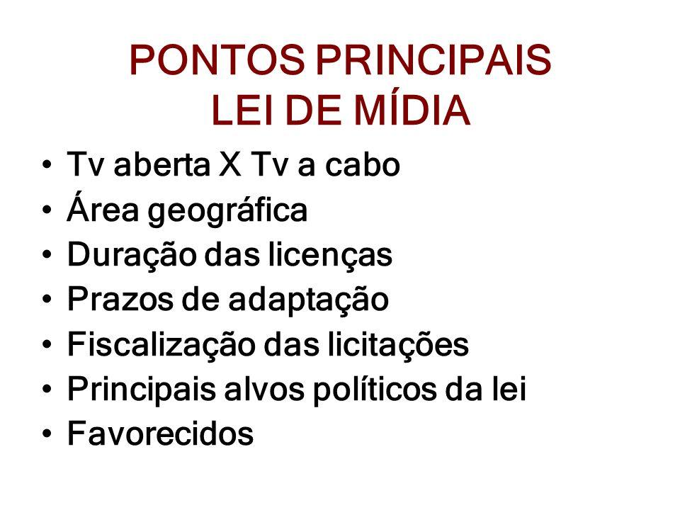 PONTOS PRINCIPAIS LEI DE MÍDIA