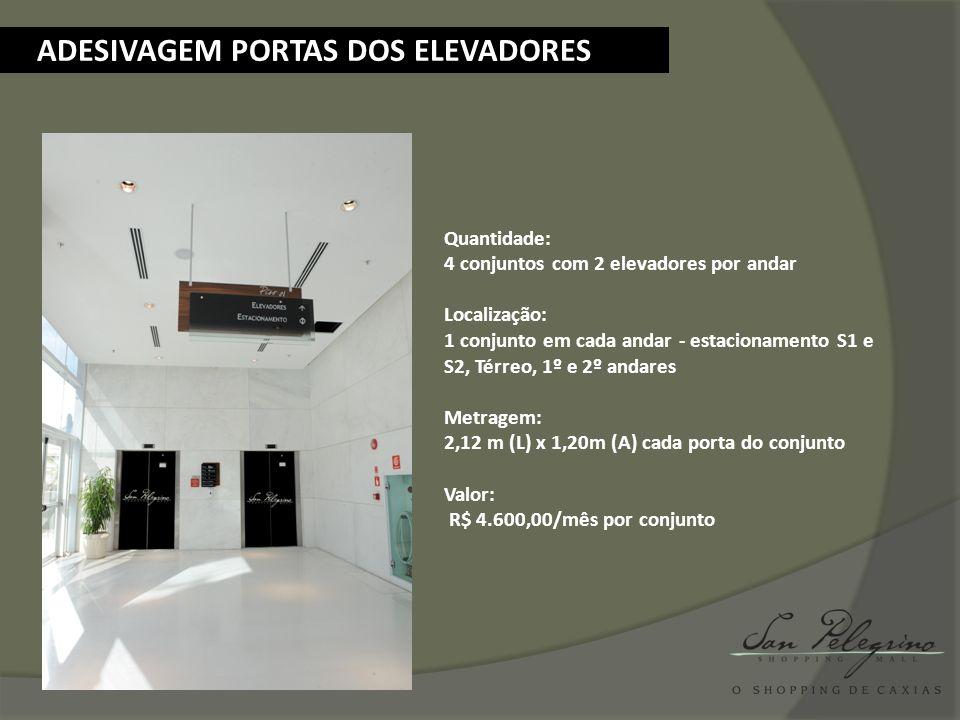 ADESIVAGEM PORTAS DOS ELEVADORES