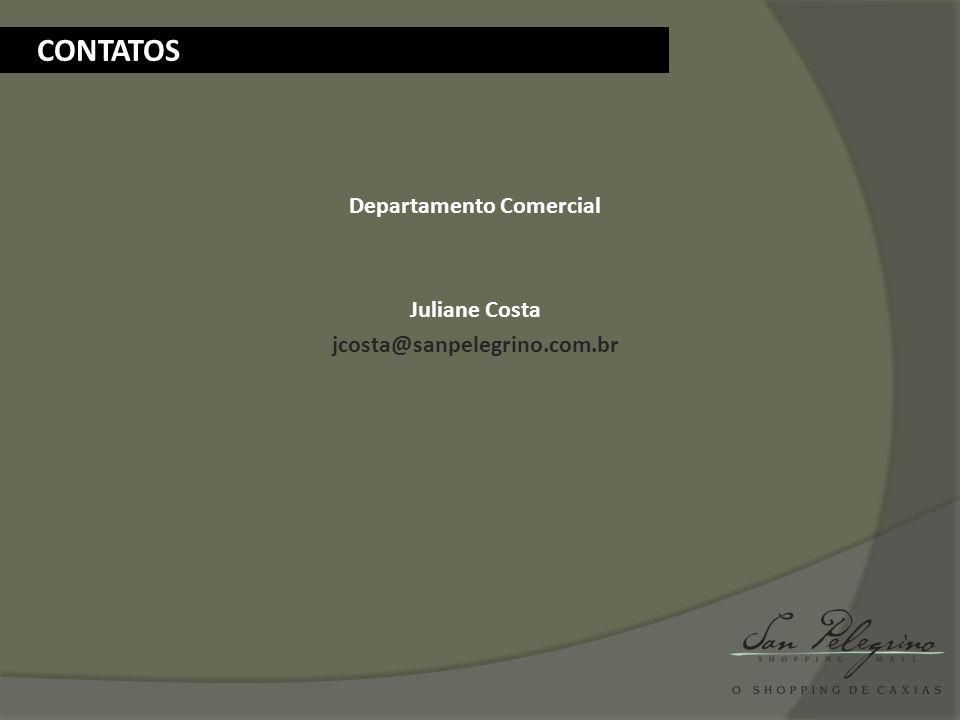 Departamento Comercial Juliane Costa jcosta@sanpelegrino.com.br