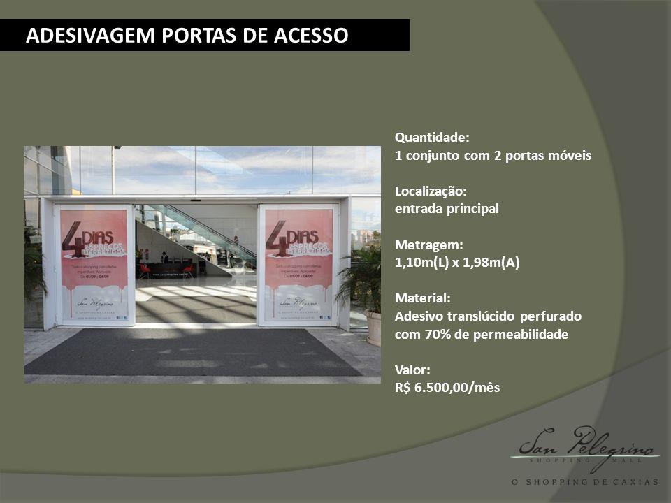 ADESIVAGEM PORTAS DE ACESSO