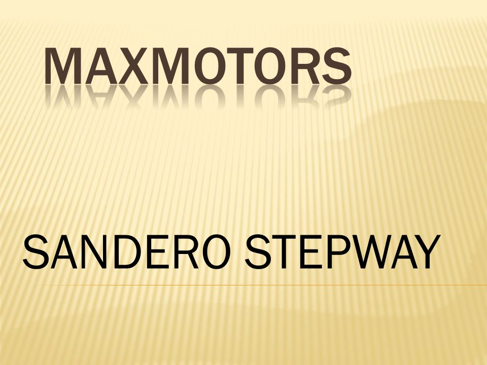 MAXMOTORS SANDERO STEPWAY