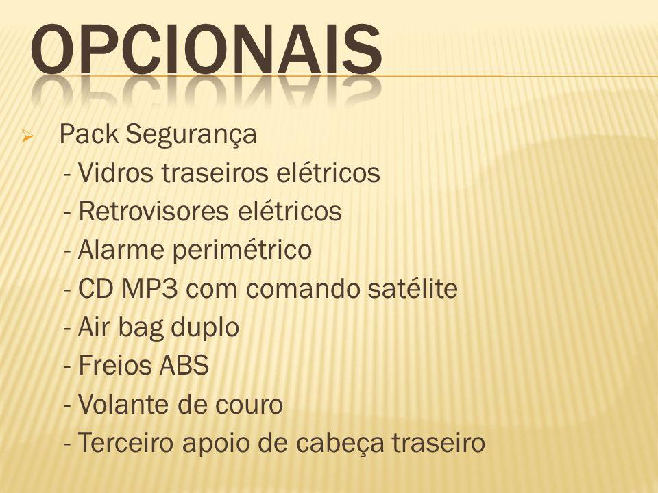 OPCIONAIS Pack Segurança - Vidros traseiros elétricos