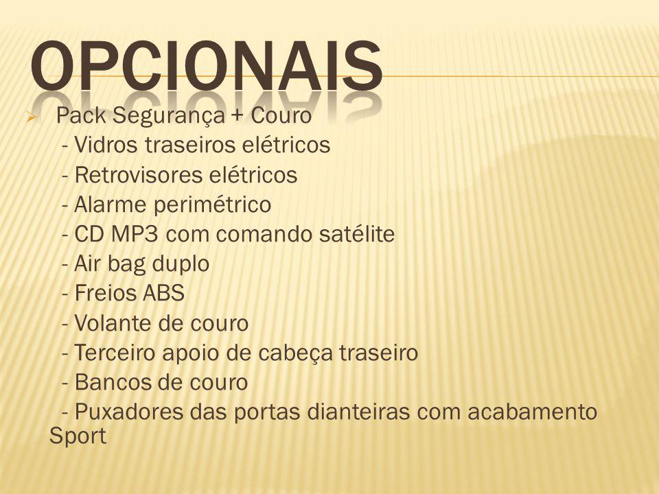 OPCIONAIS Pack Segurança + Couro - Vidros traseiros elétricos