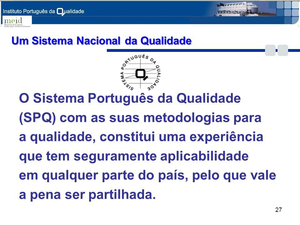 Um Sistema Nacional da Qualidade