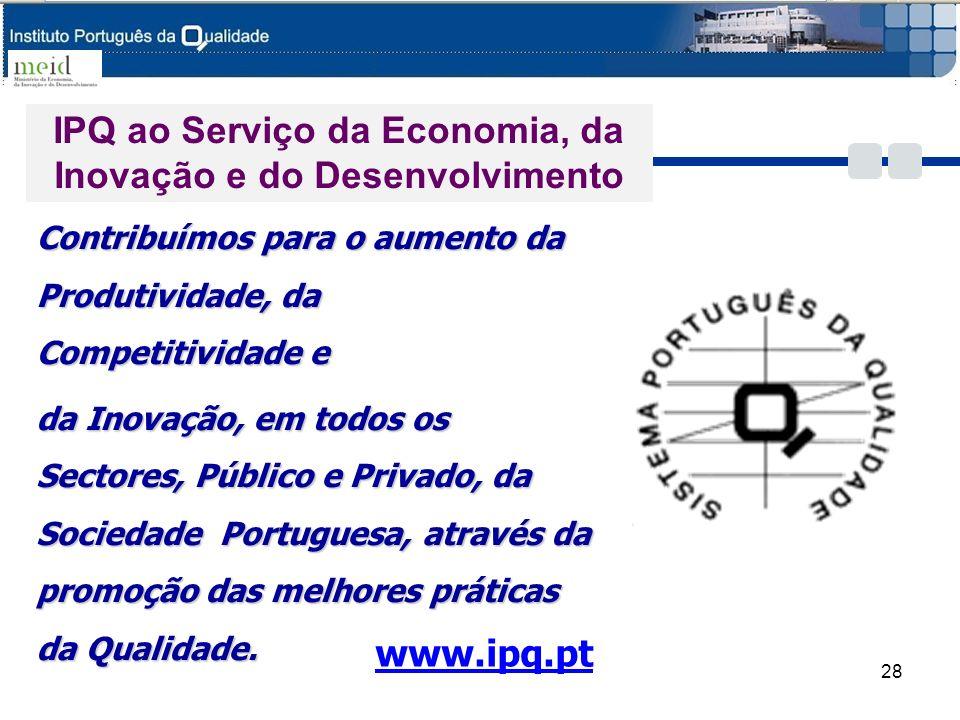 IPQ ao Serviço da Economia, da Inovação e do Desenvolvimento