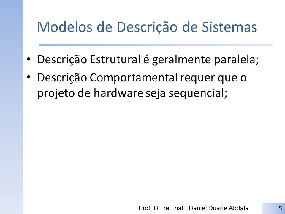 Modelos de Descrição de Sistemas