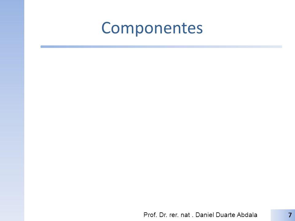 Componentes Prof. Dr. rer. nat . Daniel Duarte Abdala