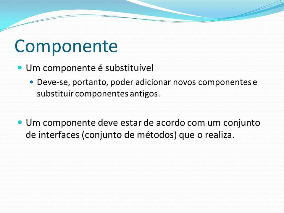 Componente Um componente é substituível