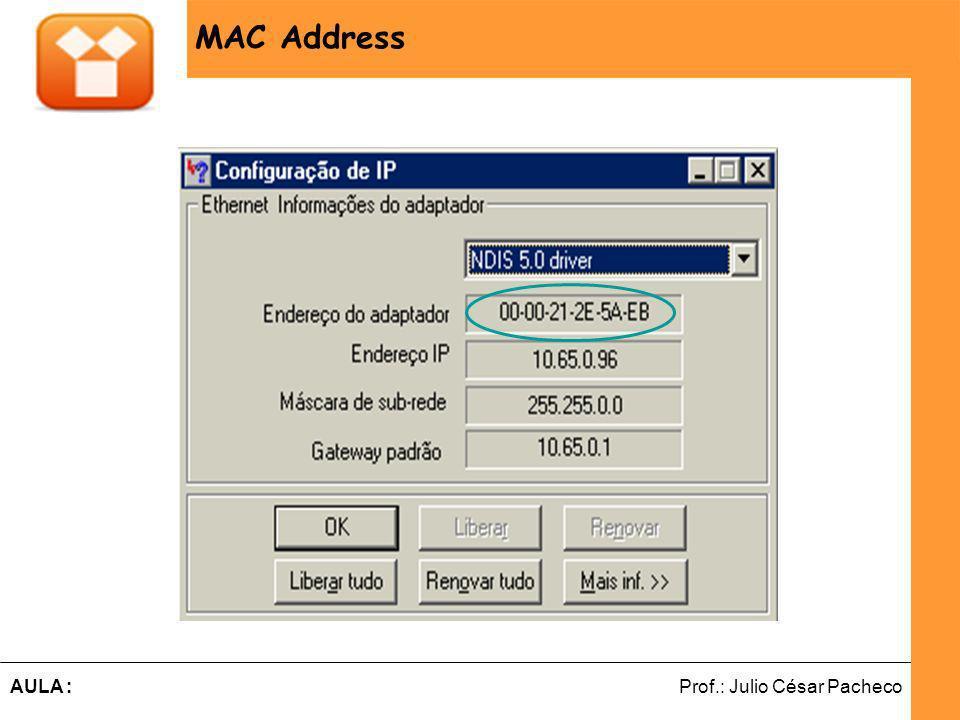 MAC Address MAC ADDRESS
